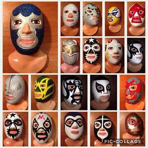Mexican wrestlers Lucha Libre RESIN BUST Santo Blue Demon More than 30 models