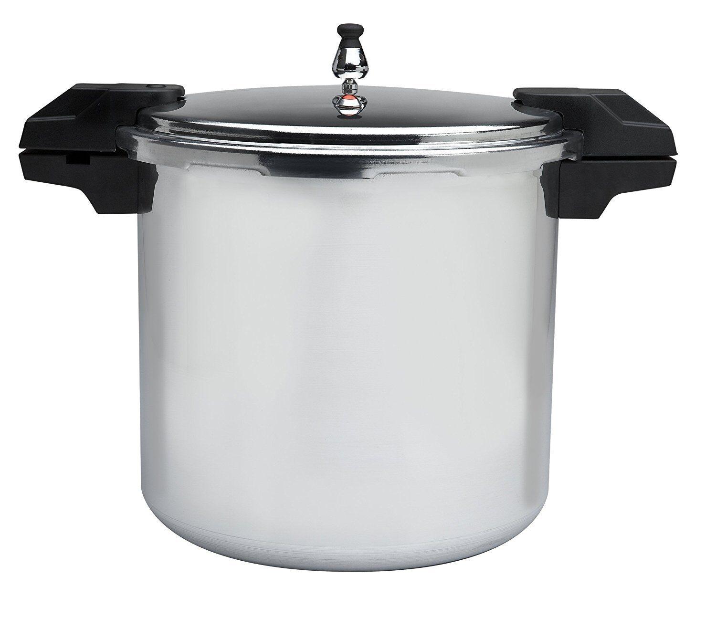 NEW MIRRO T-FAL 92122A 22 QUART HEAVY ALUMINUM PRESSURE CANNER COOKER GREAT SALE