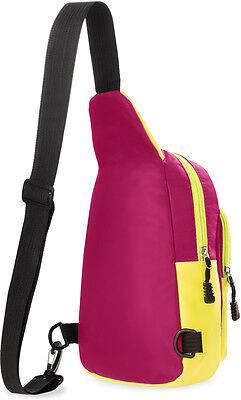 Einarm-Rucksack Querträgertasche Crossbag Schulter-Rucksack Freizeittasche rosa