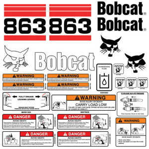 Bobcat 863 v2 Skid Steer Set Vinyl Decal Sticker bob cat USA