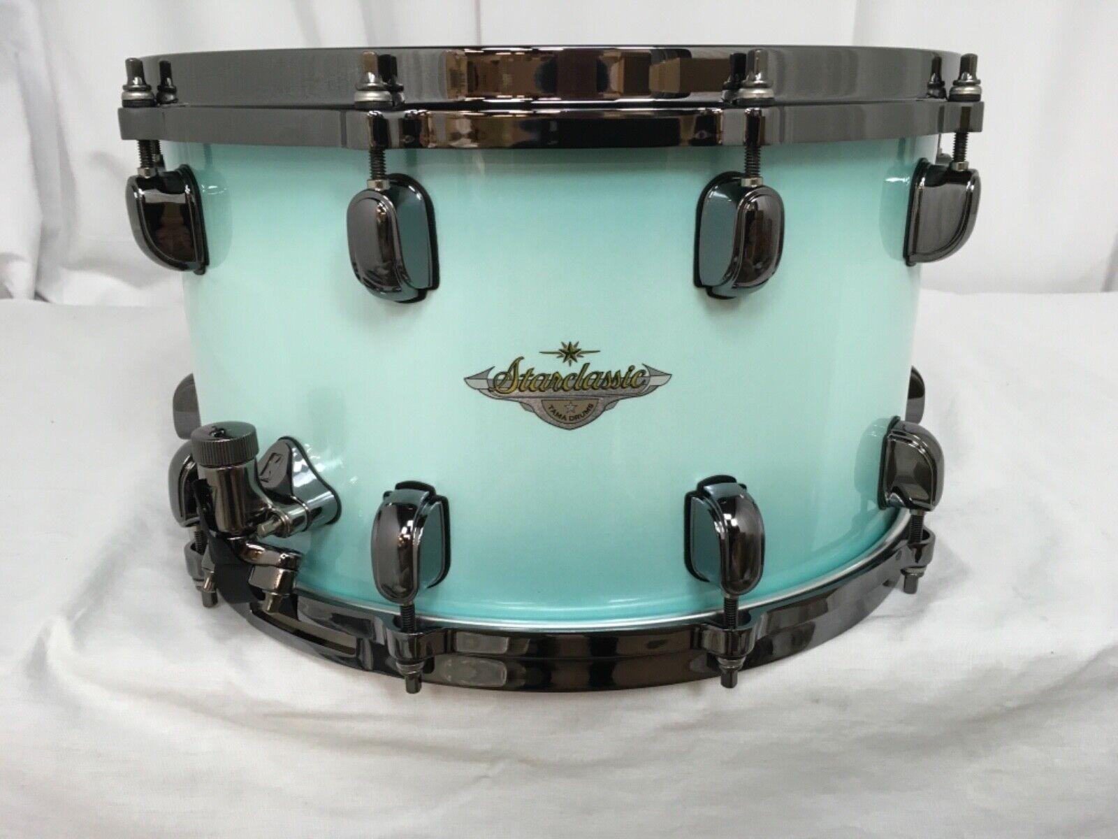 Tama Starclassic Maple 14  Dia. X 8  Deep Snare Drum Light Jade Burst Brand New