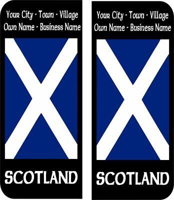 Scotland Royal Banner Flag Number Plate Decals