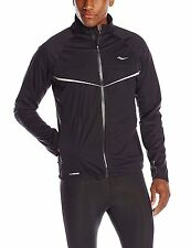 NWT Saucony Men's Razor Running Jacket BLACK Run Shield Size XL