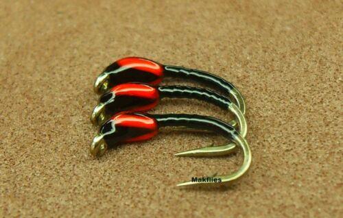 3 X Summer Killer Midge Trout Buzzers Size 14 Mak/'s Quality Flies