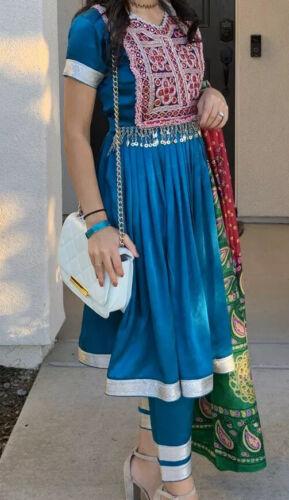 Modern Afghani Kuchi Dress Short Sleeves Afghan Ni