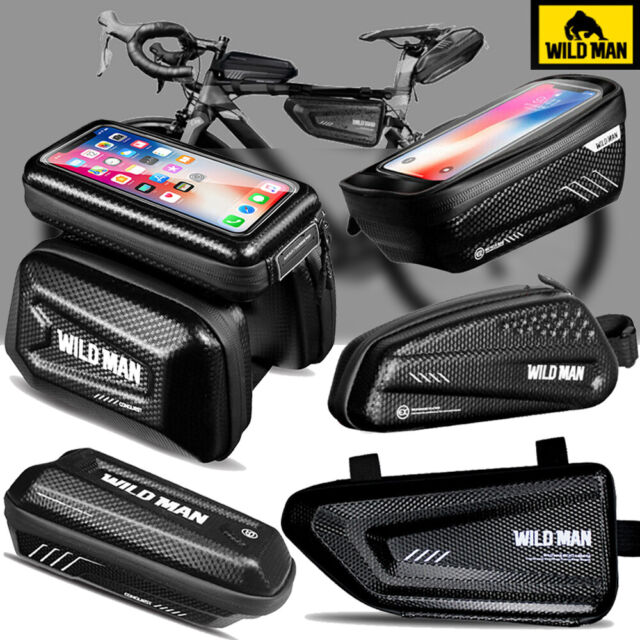 Sports Outdoors Wild Man Phone Mount Bag Waterproof Handlebar Top Tube Storage Cycling Bicycle Package Bike Front Frame Bag Touch Screen Phone Case E2 Outdoor Recreation Bike Pack Accessories Sports