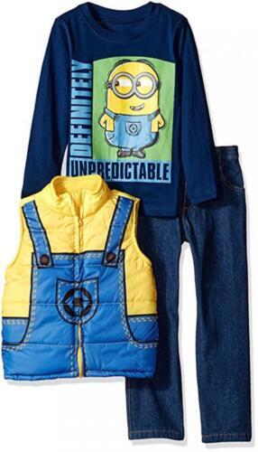 Despicable Me Boys Vest 3pc Pant Set Size 2T 3T 4T 5T 4 5 6 7