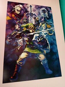 The Legend of Zelda Skyward Sword HD 11 x 17 Poster Exclusive Pre-Order Gamestop