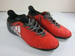 puñetazo Marty Fielding Médico  Adidas Tech Fit X 16.3 Art.BB 5663 Mens Size 11.5 Red/Black Indoor Soccer  Shoes | eBay