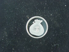 Money Bag with Dollar Sign 1 Gram .999 Pure Silver Round Coin Bar Bullion Cash