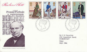 22-AUGUST-1979-SIR-ROWLAND-HILL-POST-OFFICE-FIRST-DAY-COVER-BUREAU-SHS-j