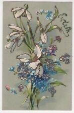 Edith, Flowers Applique Name Greetings Postcard, B592