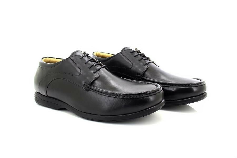 Mens Roamers Leather Extra Wide Fit Casual Lace Up Shoes