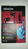 Denon Music Maniac Ah-c50mabk Earbuds Cable Headphones (black)