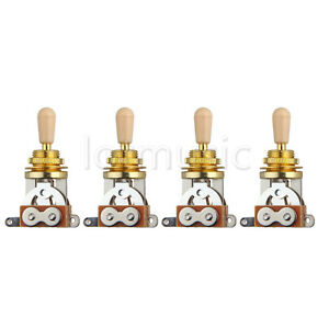 4pcs-Golden-Electric-Guitar-3-Way-Toggle-Switch-Pickup-Selector-W-Cream-Tip