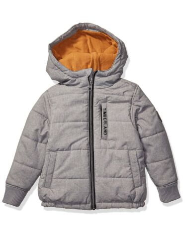Timberland Boys Jacket Saco Hooded Puffer Gray