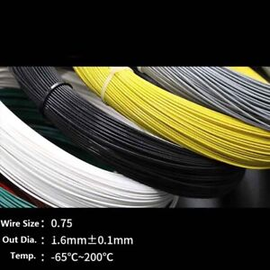 AWG17.5 18.5 1mm 0.75mm Silicon Wire Hookup Cable Stranded Copper Black H05V-K 1