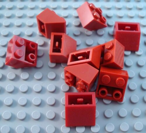 LEGO Lot of 10 Dark Red 2x2 Inverted Slope Pieces