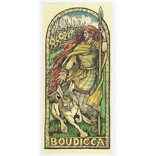 PAGAN WICCAN GREETING CARD Boudicca GODDESS Andraste HARE CELTIC HEDINGHAM FAIR