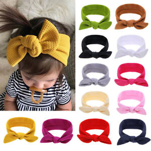 Infant Knotted Turban Baby Girl Headbands Newborn Hair Bands Soft Headwrap