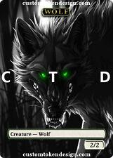 = Custom Full Art Skin Wolf FOIL Token =ctd= Garruk Arlinn o