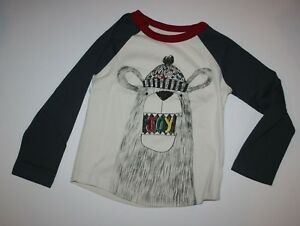 NEW-Gymboree-Boys-Holiday-Jolly-Bear-Graphic-Tee-Top-2T-3T-Wearing-Hat-Says-Joy