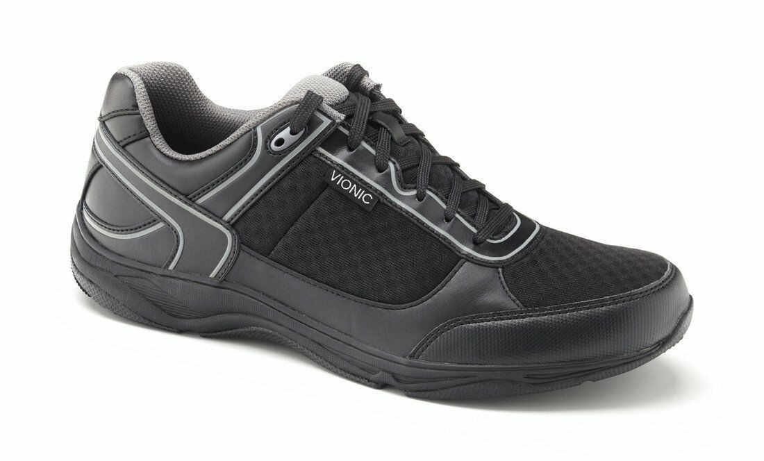 Vionic By Orthaheel Men's Endurance Black Comfort Walking Shoes Size 7M