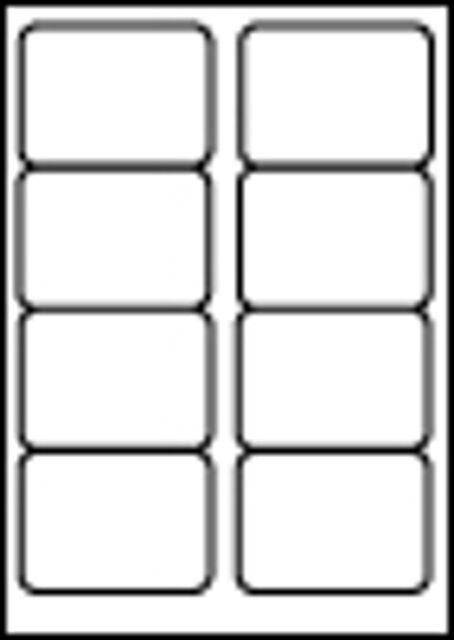 20x A4 8 PER SHEET STICKY COMPUTER COPIER LAZER LABELS KF26055