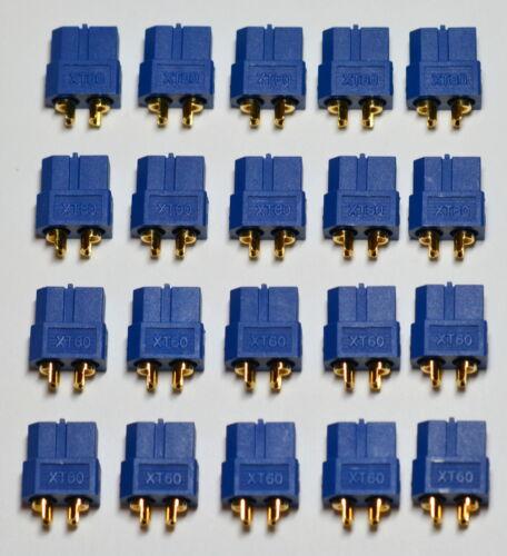 XT-60 Battery Bullet Connectors Plugs 20 Genuine AMASS Blue Female XT60