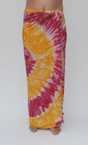 NEW Tie Dye Sarong Pareo Piscina Spiaggia Bikini Coprire / sa295