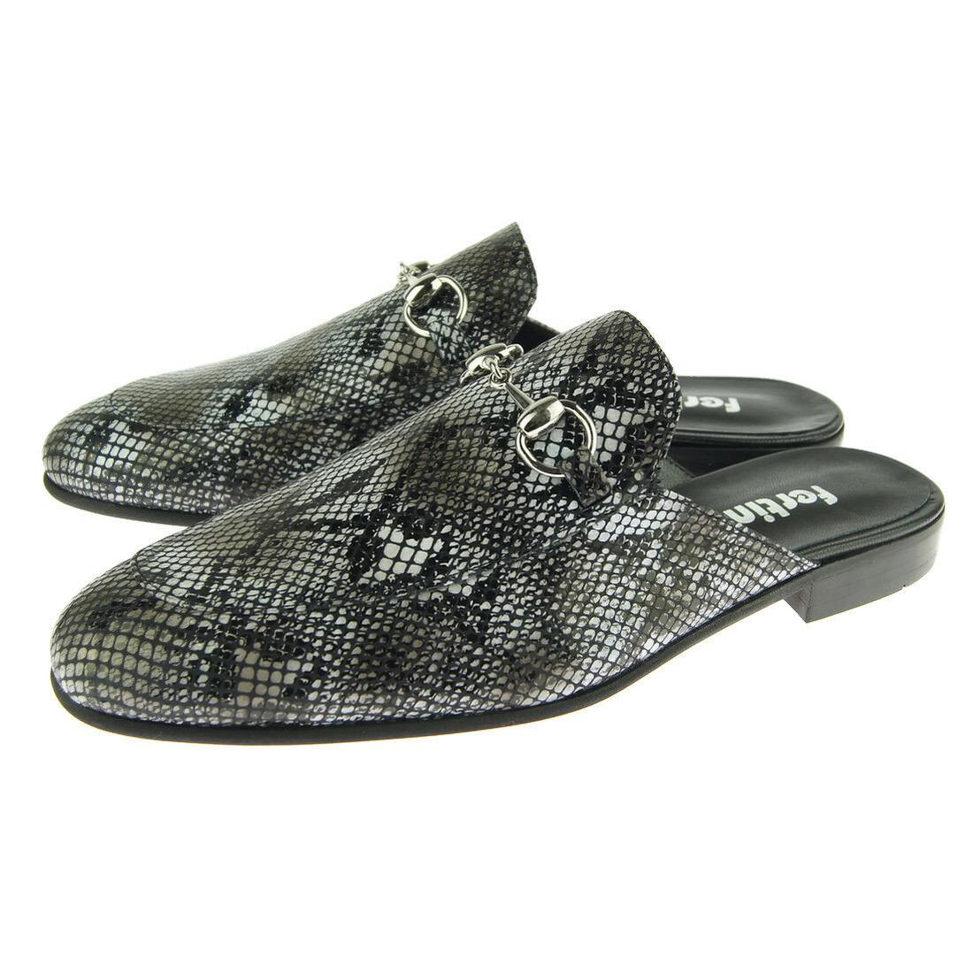 Fertini 91 Bit Schnalle Slip,Herren Schuhe, Geschlossene Zehen Sandalen,