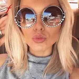 in vendita 6a0ba e9fb2 Dettagli su occhiali da sole donna marroni argento gialli celesti sexy  estate moda 2019