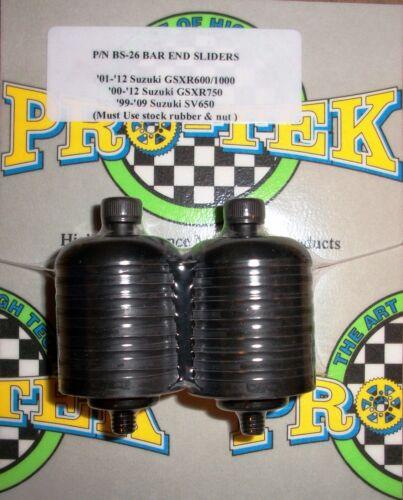 Pro-tek Bar End Sliders Suzuki 2006 2007 2008 2009 2010 GSXR1000 Black