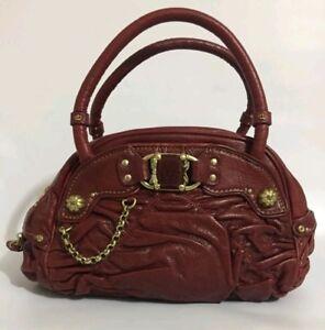 bdc195ecb8b2 Juicy Couture Women s Leather purse handbag burgundy shoulder bag ...