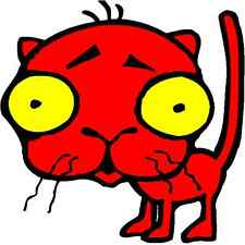 30 Custom Bizarre Red Kitty Personalized Address Labels