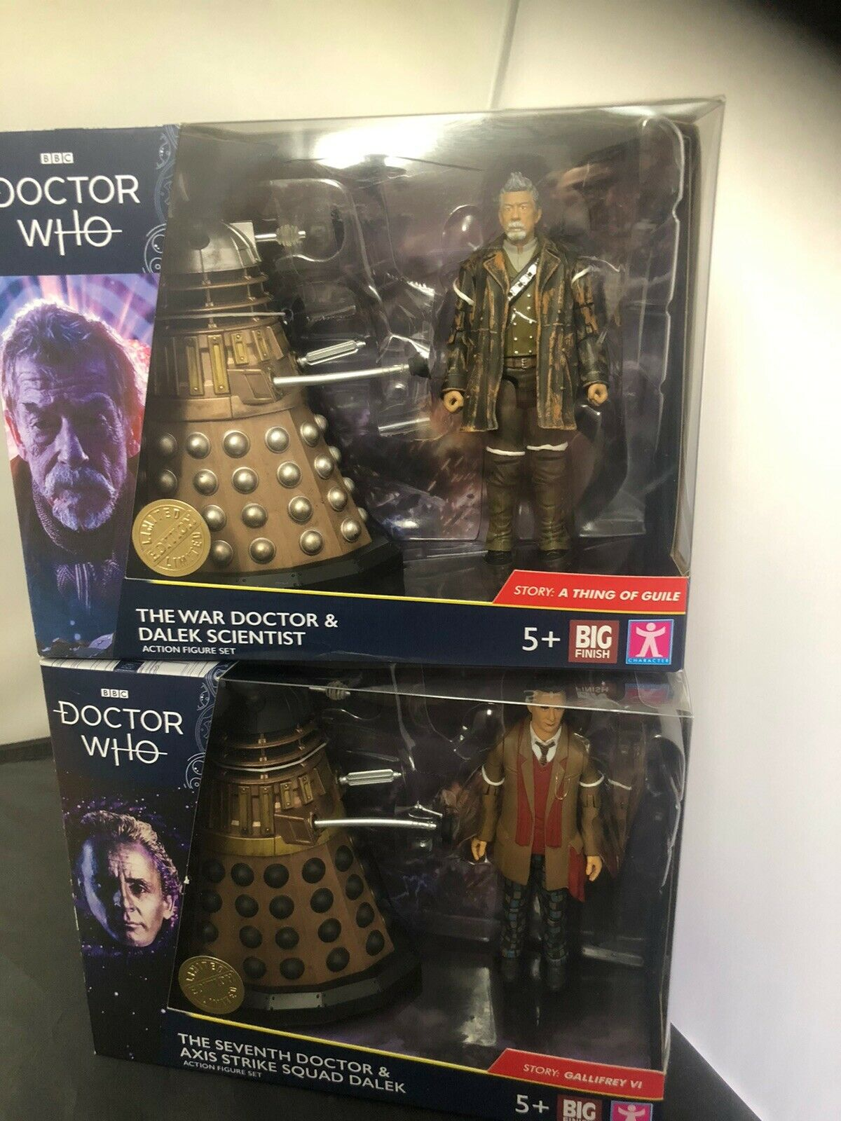 Doctor Who The War Doctor and Dalek Scientist & The Seventh Doctor Sets X2