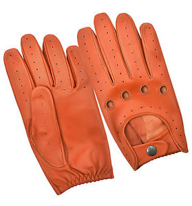 Genuine Sheep Leather Driving Gloves Chauffeur Retro Style Men/'s Dress Glove