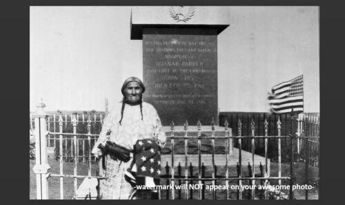 Burial Site 1940 Chief Quanah Parker Grave PHOTO,Native American Indian Nation