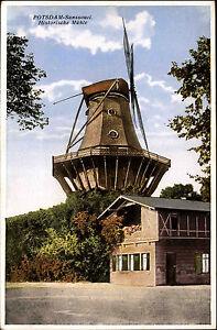 POTSDAM-Brandenburg-AK-um-1925-Historische-Muehle-Verlag-W-Hannemann-in-Potsdam