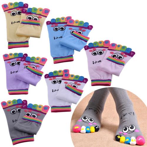 6-Paar Zehensocken MIXED Cartoon Bunte Zehen Socken Yoga Toe Socks mit Baumwolle