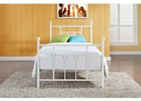 Wrought Iron Bed Frame Twin Victorian Vintage Bedroom Furniture Bedding Not Inc,