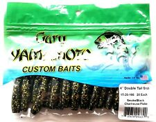 "Cinnamon Large Green Flake 12-10-140 Gary Yamamoto 6/"" Double Tail Grub  BIN18"