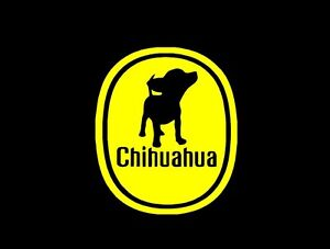 chihuahua chiquita logo parody love vinyl decal sticker window glass