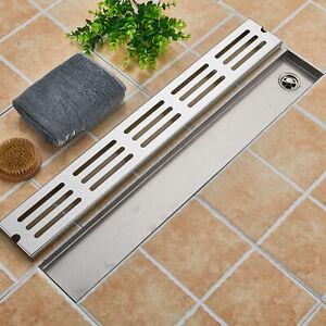 Edelstahl-Duschrinne-Bodenablauf-Ablaufrinne-Duschablauf-Boden-Ablauf-Rinne