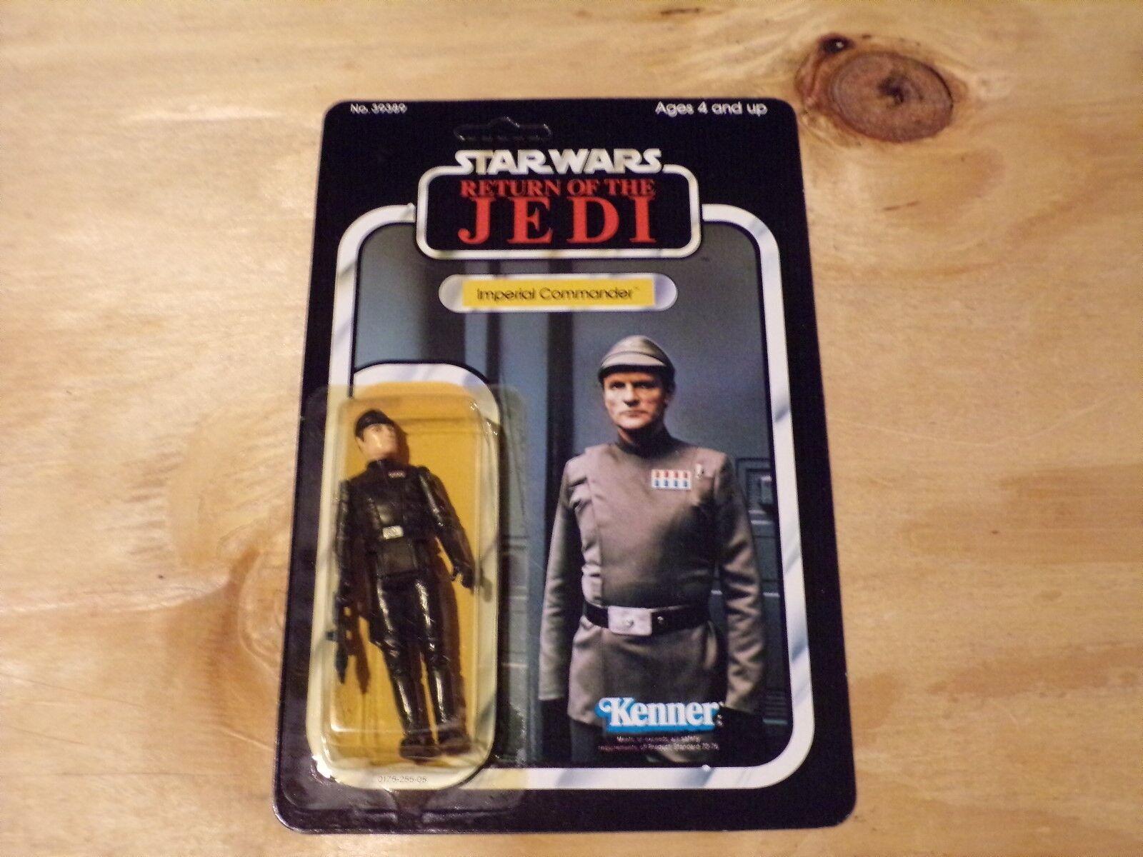 Vintage Star Wars 1983 Kenner Return of the Jedi Imperial Commander 77 Arrière MOSC