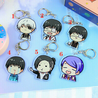 Hot Japan anime Tokyo Ghoul rubber Keychain Key Ring Rare cosplay