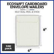 100 6x8 Ecoswift Brand Self Seal Cardboard Cddvd Envelope Mailers 6 X 8