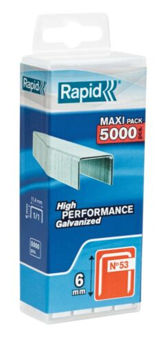 Hauteur 6 mm 5000 agrafes Agrafe n°53 Rapid Agraf