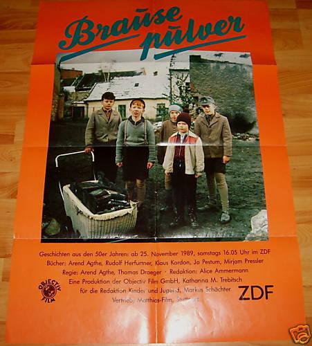 Arend Agthe BRAUSEPULVER Plakat Geschichten aus 50er