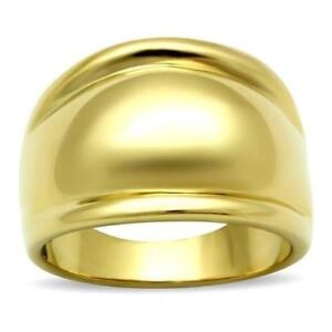 010 WOMENS  BOLD DOME  ION RING LASTING 18KT STEEL GOLD PLATED 2018 DESIGN - LINCOLNSHIRE, United Kingdom - 010 WOMENS  BOLD DOME  ION RING LASTING 18KT STEEL GOLD PLATED 2018 DESIGN - LINCOLNSHIRE, United Kingdom
